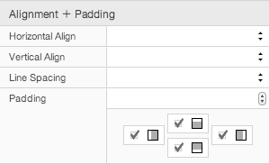 Alignment and Padding Settings